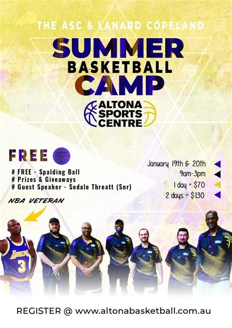 summer holiday camp altona basketball