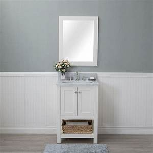 Contemporary white vanities comfortable home design for Bathroom in middle of house