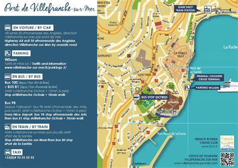 plan dacces au port de villefranche sur mer croisiere