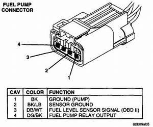 1998 Dodge Ram Fuel Pump Electrical Connection  The Fuel