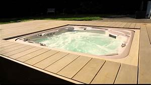 Whirlpool vollautomatisch versenkt integriert in for Whirlpool garten mit balkon holz bausatz