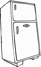 Coloring Refrigerator Electronics Household Pages Worksheets Kindergarten sketch template