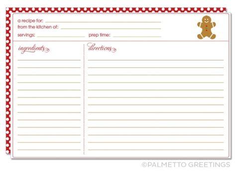 printable recipe card  christmas holiday theme