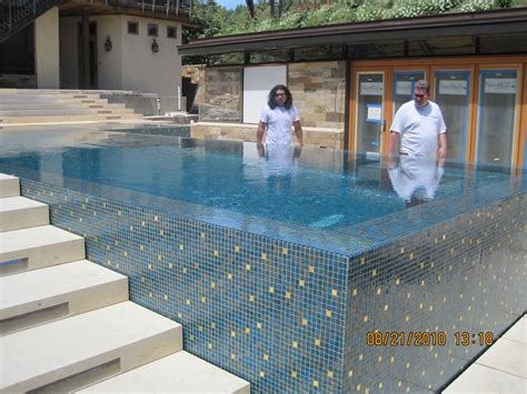 bisazza glass pool weaver tile grout s