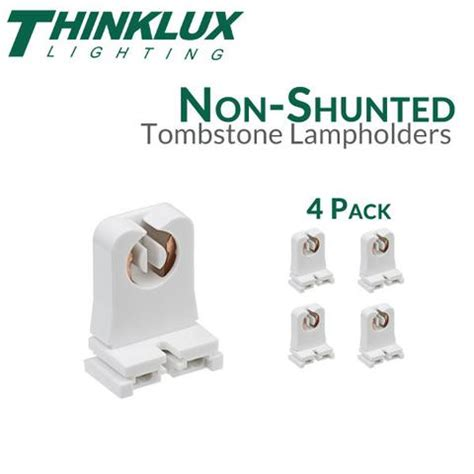 non shunted rapid start tombstones for led t8 conversions