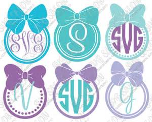 Monogram SVG Circle Frame with Bow