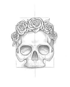 Use Ink Liners Create Skull Roses Drawing Fall