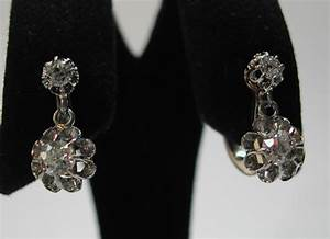 Bijoux Anciens Occasion : boucles d 39 oreilles dormeuses anciennes diamants or 16 bijoux anciens paris or ~ Maxctalentgroup.com Avis de Voitures