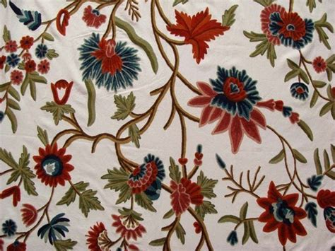 Crewel Upholstery Fabric by Cotton Crewel Embroidered Upholstery Fabric Kashmir