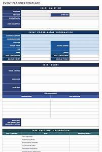 21 free event planning templates smartsheet With event planning organizer template