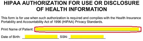medical records release authorization form hipaa