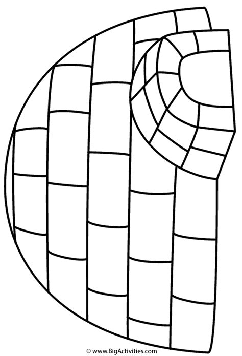 igloo coloring page winter