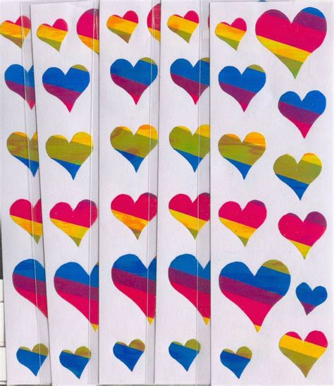 colored stickers bright rainbow colored stickers 60 stickers ebay