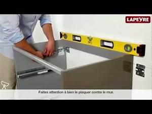 poser des meubles de salle de bains youtube With pied meuble salle de bain lapeyre