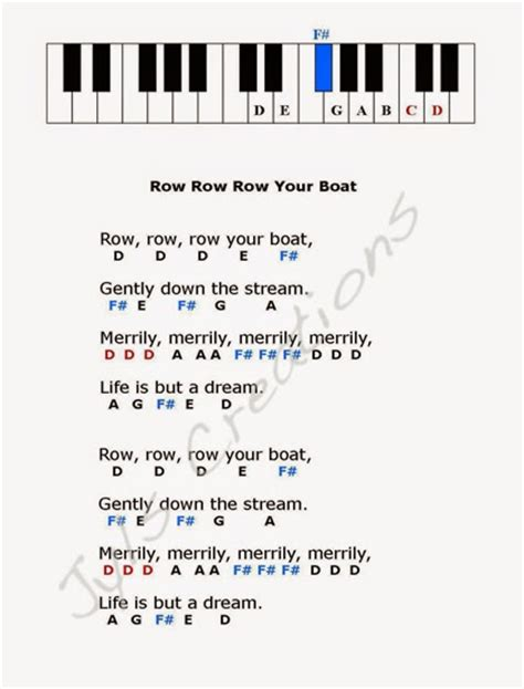Row Row Row Your Boat Lyrics Notes by Health Tips Baby Foods Tips Recipes Jyls