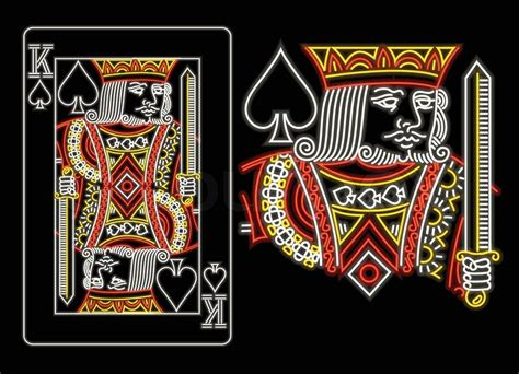 King Of Spades In Neon