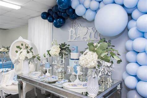 Kara's Party Ideas Silver & Blue Elephant Baby Shower