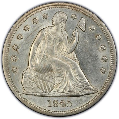 liberty dollar coin 1845 seated liberty silver dollar values and prices past sales coinvalues com