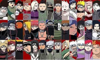 Naruto Characters Wallpapers Shippuden Desktop Wallpapersafari Anime