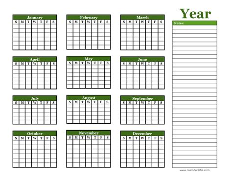 Blank One Month Calendar Template by Yearly Blank Calendar With Holidays Free Printable Templates