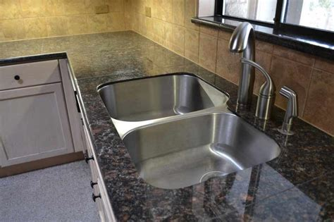 lazy granite brown countertop with sink kit