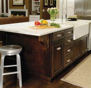 Sink Island Kitchen Traditional Kitchen Island With Farmhouse Sink Traditional Kitchen Denver By Kitchens By