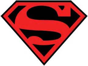 Black and Red Superman Logo