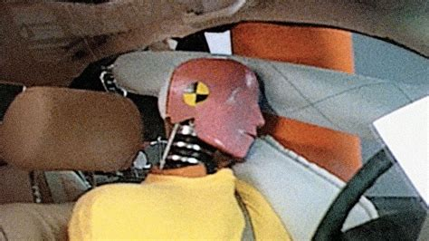 side airbag system performs   crash test