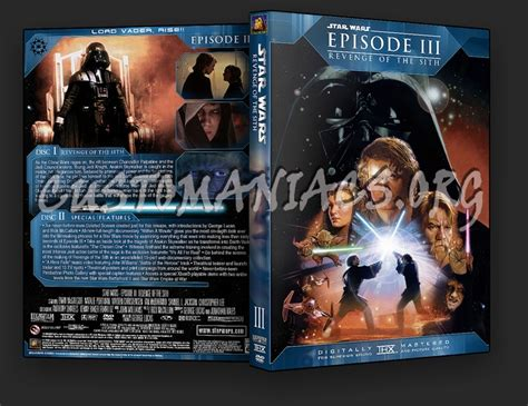 Revenge Of The Sith Dvd Cover