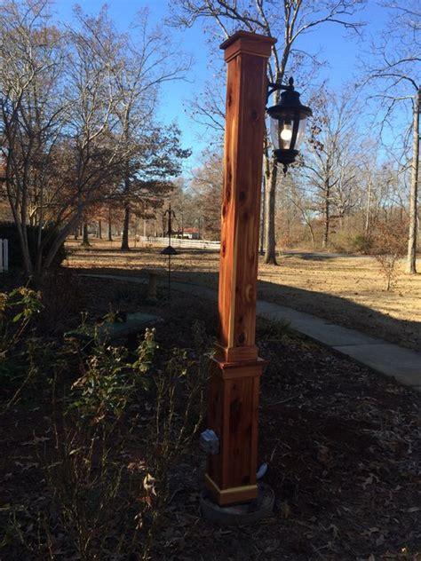 eastern cedar light post by lumberjocks