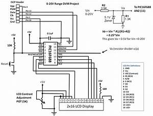 pic16f688 digital voltmeter electronics lab With digital voltmeter wiring diagram free download wiring diagrams