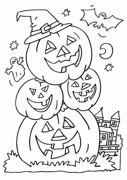 Halloween Colouring Pages Coloring Lantern Jack Crafts