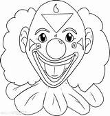 Pennywise Coloring Clown Face Drawing Horror Scary Fun Ausmalen Zum sketch template