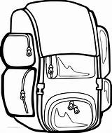 Coloring Bag Backpack Clipart Pages Camping Sheet Wecoloringpage Clipartmag Printable Getcolorings Destiny sketch template