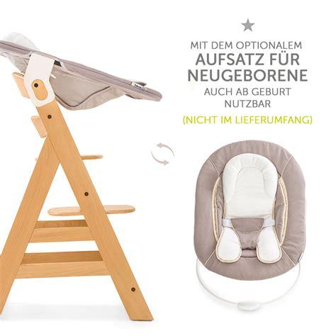 Hauck Hochstuhl Holz Baby Kinder Alpha + Plus Natur