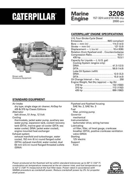 spec sheets cat  propulsion horsepower propulsion