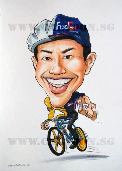 sporting themes cartoonsg singapore caricature artists