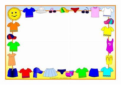 Summer Borders Clothes Landscape A4 Sparklebox