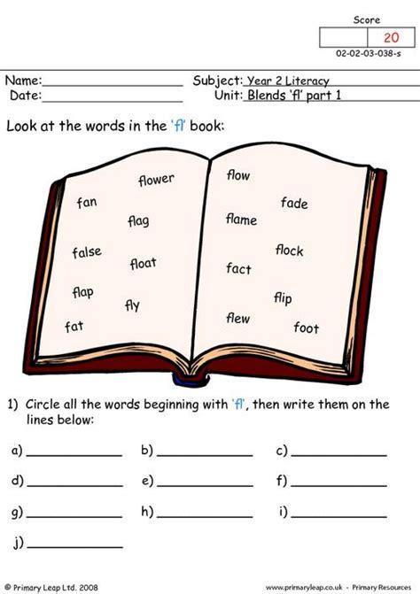 literacy rhyming words  worksheet primaryleapcouk