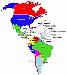 Continente Americano es el segundo continente más grande,dividido en tres blockes,Norte América