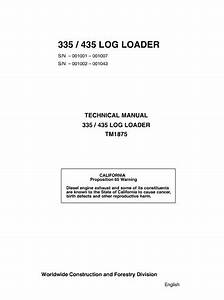 John Deere 335  435 Log Loader Technical Manual