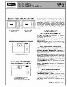 Bryant Thermidistat Tstat User Manual