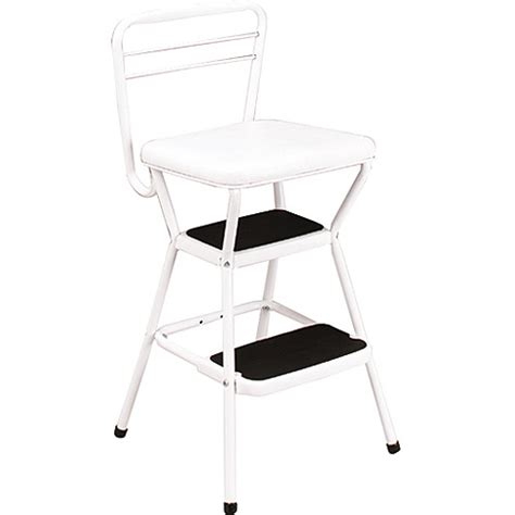 Cosco Step Stool Chair by Cosco Chair With Step Stool White Walmart