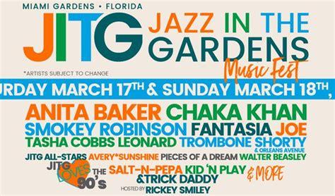 jazz in the gardens jazz in the gardens 2018 tickets in miami gardens at