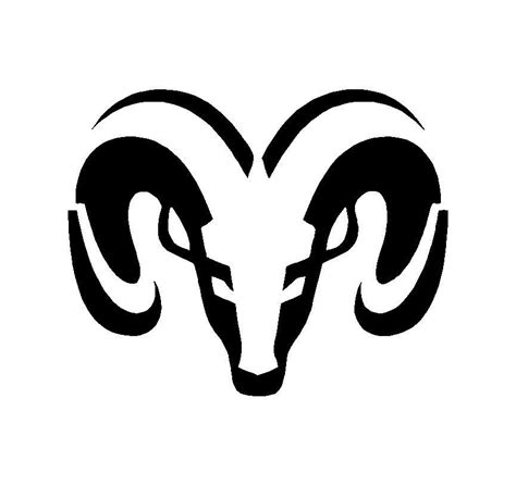 Dodge Ram Head Logo Symbol Vinyl Decal Car Truck Window ...