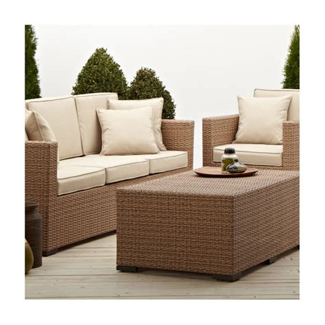 Strathwood Outdoor Furniture Company by Strathwood Griffen All Weather Wicker 3 Seater Sofa