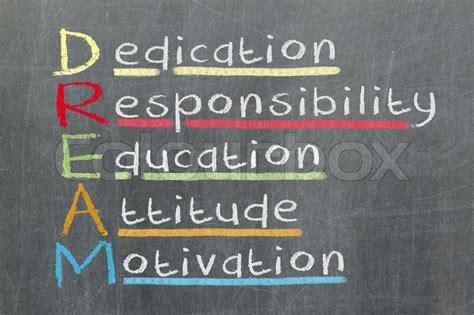 dedication responsibility education stock photo