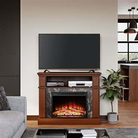 electric fireplace tv stands  walmart