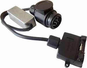 Cm Trailer Plug - 13 Pin Euro Plug To 7 Pin Flat Socket