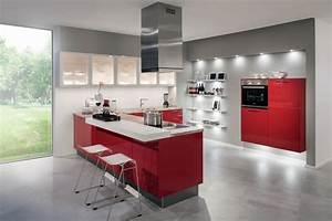 cuisine gris anthracite et rouge With cuisine rouge et blanc photos